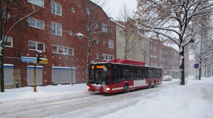 Buss 181 i Skarpnäck, Biogasbuss
