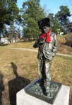 Willy Brandt, staty i Willy Brandts park i Hammarbyhöjden