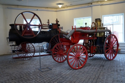 Eskilstuna Stadsmuseum, ångdriven brandspruta