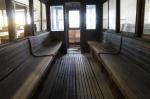 Gävle spårvägsmuseum, vagn 1interiör