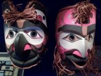 Etnografiska museet, masker, nordamerikanska indianer (2)